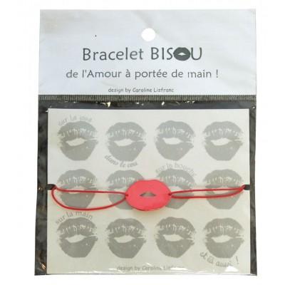 Bracelet bisou ass rose et rouge