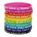 Set 10 bracelets silicone kid
