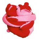 Eurobear velours rose et rouge