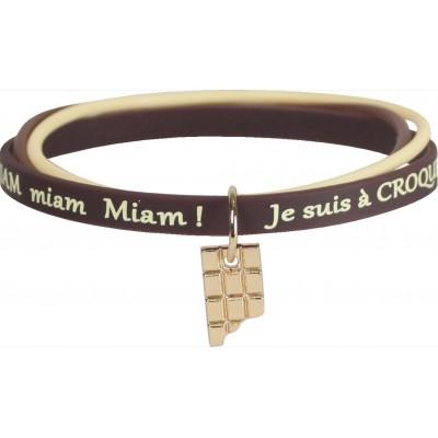 Bracelet silicone méli-mélo 3 chocolats