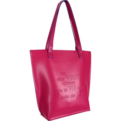 Sac cabas bicolore rose