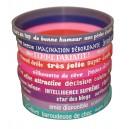 10 bracelets silicone femme