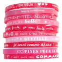 Set 10 bracelets fille rose