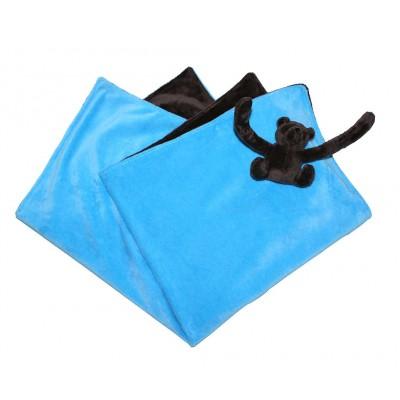 Couverture eurobear capuche bleu