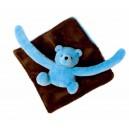 Doudou eurobear chocolat  turquoise