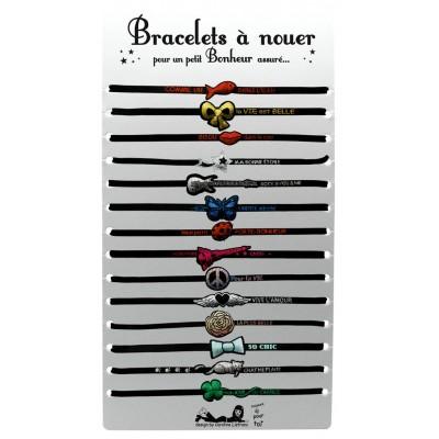 Bracelet tissé brillamment