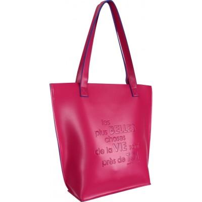 Sac cabas bicolore rose